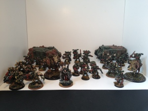 Nurgle Chaos space marines army