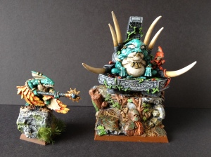 Slann Mage Priest and Skink Priest
