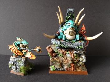 Slaan Mage and Skink Priest
