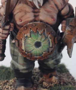 This is a good example of a crossover between level 2 and 3. The tartan and weathered rusted weapons take it above a level one and the attention to detain on the gut eye detail push it towards level 3. For a large army this could be discounted down to a level 2 price while on an individual model would be priced nearer level 3